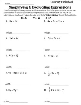Simplifying Expressions Activity {Distributive Property and Combine Like Terms}