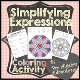 Simplifying Expressions Coloring {Simplifying Algebraic Expressions Activity}