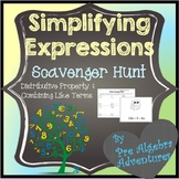 Simplifying Expressions Scavenger Hunt {Distributive Prope