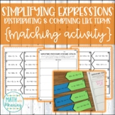 Simplifying Expressions (Distributing & Combining Like Terms) Matching