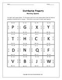 Distributive Property Activity 4x4 Puzzle