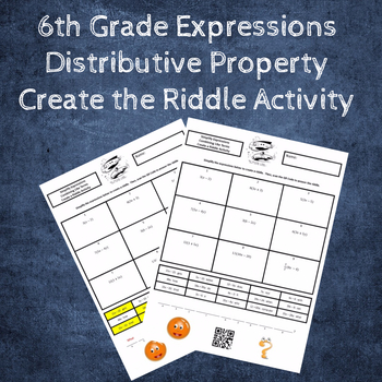Simplifying Expressions:  Distributive Property Create the Riddle Activity