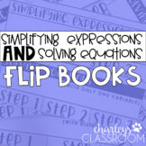 Simplifying Expressions & Evaluating Equations | 2 Flip Books