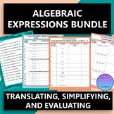 Algebraic Expressions: Translating, Simplifying, and Evalu