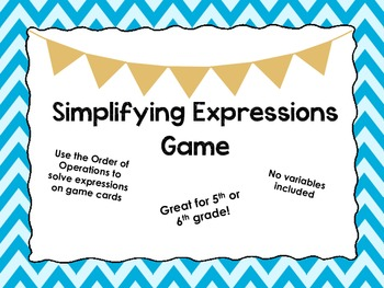 Simplifying Expressions Game