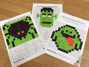 Simplifying Expressions Halloween Special (Math Art)