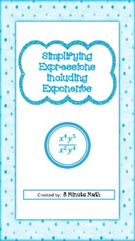 Simplifying Expressions Including Exponents