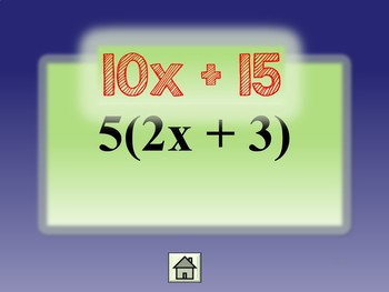 Simplifying Algebraic Expressions {Combining Like Terms Distributive Property}