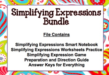 Simplifying Expressions Lesson Bundle
