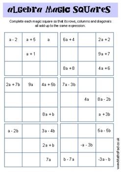 Simplifying Expressions: Magic Squares!