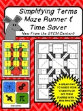 Simplifying Expressions Maze Runner and Time Saver