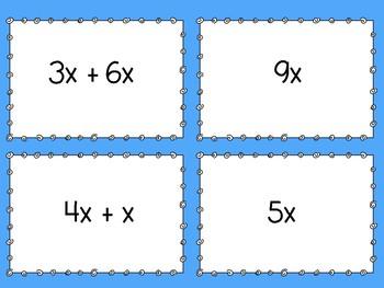 Simplifying Expressions Memory Games - Bundle