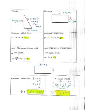 Simplifying Expressions Notes & Examples