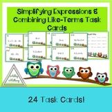 Simplifying Expressions Owl Taskcards