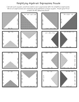 Simplifying Expressions Puzzle