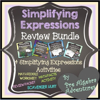 Simplifying Expressions Using Distributive Property and Combining Like Terms