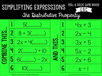 Simplifying Expressions Review Game