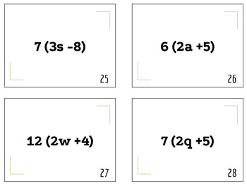 Combining Like Terms (Task Cards)