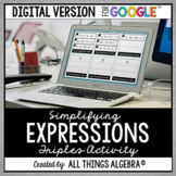 Simplifying Expressions Triples Activity: DIGITAL VERSION (for Google Slides™)
