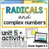Simplifying Expressions Unit 5 + Activities Bundle - Texas Algebra 2 Curriculum