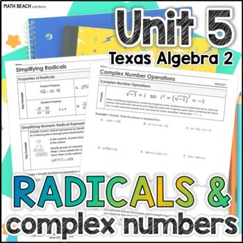 Unit 5: Radical Expressions and Complex Numbers - Texas