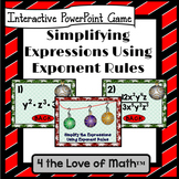 Simplifying Expressions Using Exponent Rules: PowerPoint Activity