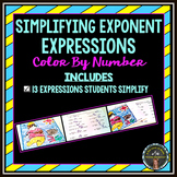 Simplifying Expressions With Exponents: Color By Number