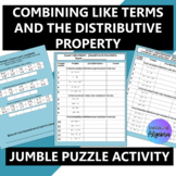 Combining Like Terms and the Distributive Property $100,000 Pyramid Activity