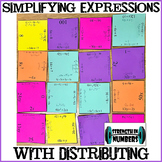Simplifying Expressions with Distributive Property Group Puzzle