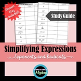 Simplifying Expressions with Exponents and Radicals - Stud