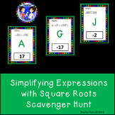 Simplifying Expressions with Square Roots Scavenger Hunt