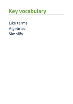 Simplifying, Factorising and Brackets