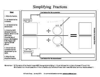 Simplifying Fraction Mat