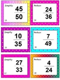 Simplifying Fraction Task Cards