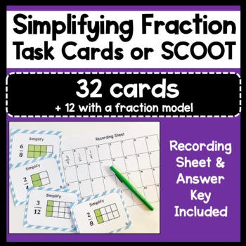 Free Fractions Flash Cards   Teachers Pay Teachers