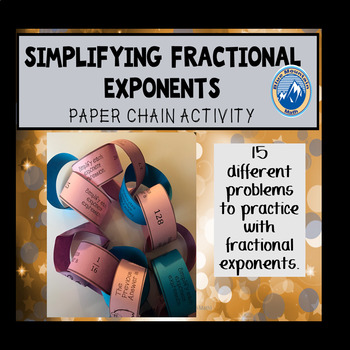 Simplifying Fractional Exponents Paper Chain Activity