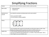 Simplifying Fractions 2-Column Notes {5th and 6th Grade Co