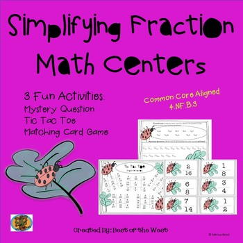No Prep Simplifying Fractions Task Cards