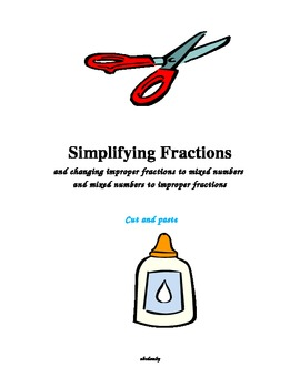Simplifying Fractions-A Cut and Paste Activity