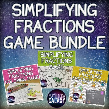 Simplifying Fractions Activity Bundle