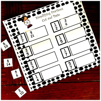 Simplifying Fractions Activity - Four Cut and Paste Pages