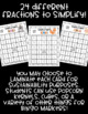 Simplifying Fractions BINGO! 32 Different Student Cards!