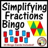 Fractions - Simplifying Fractions Bingo Classroom Activity w/ 35 Bingo Cards!