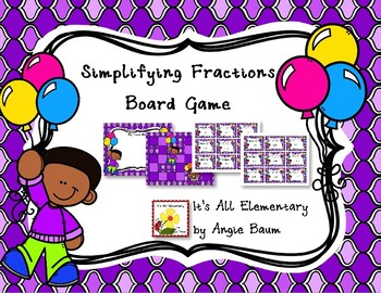 Simplifying Fractions Board Game
