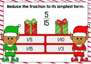 Simplifying Fractions Digital Boom Cards