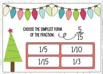 Simplifying Fractions Digital Boom Cards