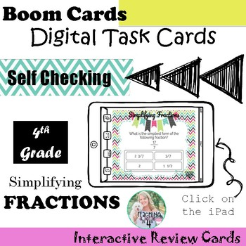 Simplifying Fractions Boom Cards