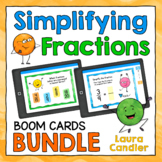 Simplifying Fractions Boom Cards Bundle (with Audio)