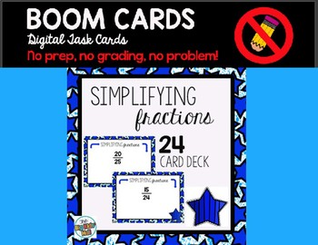 Simplifying Fractions: Boom Cards Digital Task Cards 4.NF.A