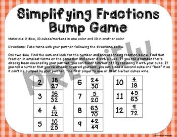 Simplifying Fractions Bump